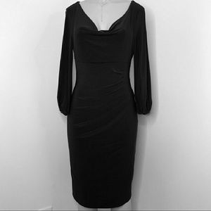 NWOT Lauren Ralph Lauren Cowl Neck Sheath Dress